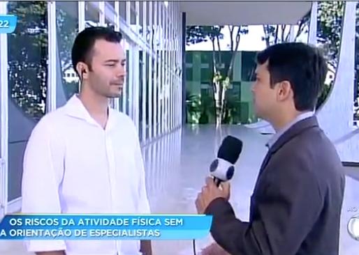 Tv Record Brasília faz reportagem com o CREF7 sobre o Dia Mundial da Atividade Física.