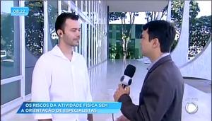 Reportagem Tv Record com o CREF7