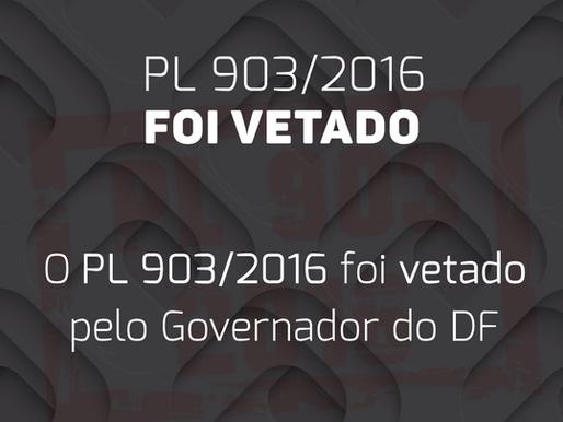 Governador VETA PL903/2016 e CREF7 responde