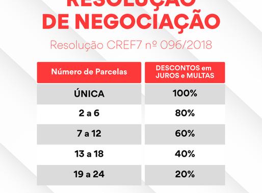 CREF7 publicanova resolução para negociação 096/2018