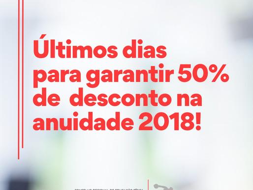 50% desconto termina em 31 de janeiro
