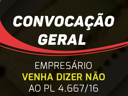 Não ao PL 4.667/16 - Audiência Pública