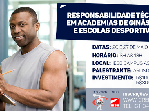 Curso de Responsabilidade Técnica em Academias de Ginástica e Escolas Desportivas