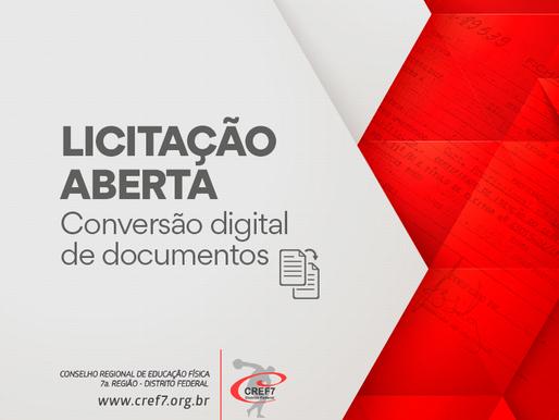 Licitação CREF7 - 001/2018