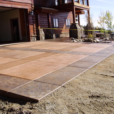 Concrete garage pad/patio