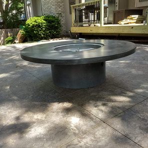 Concrete fire pit and base