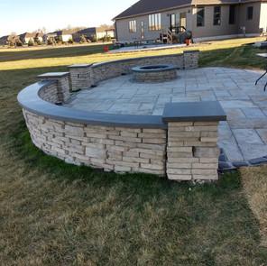 Concrete tops for brick work