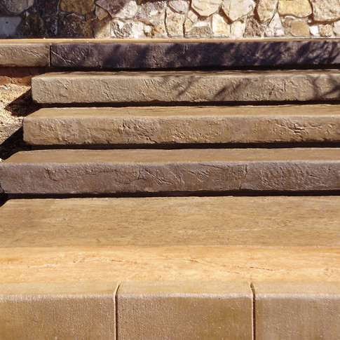 Concrete stairs and patio