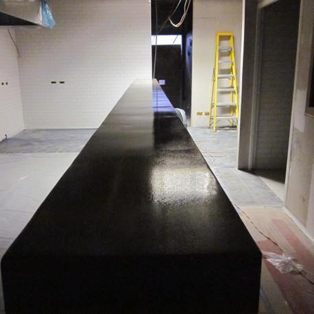 Custom conrete bar countertop