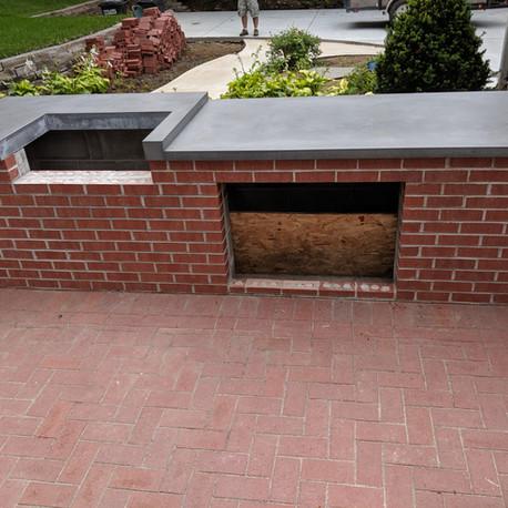 Grill concrete counter top