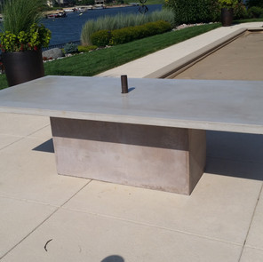 Conrete table and base