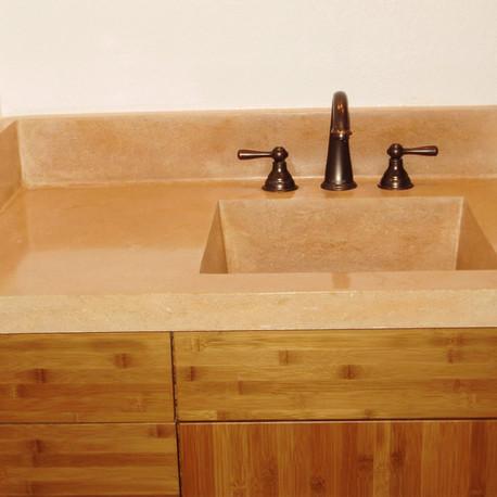 Concrete bathroom sink/countertop