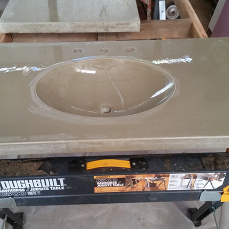 Concrete sink and countertop