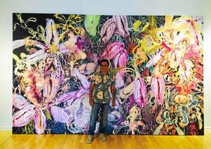 Angel Ricardo Ricardo Rios showcases his colorful work at PV Art Center