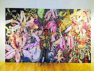 Angel Ricardo Ricardo Rios showcases his colorful work at PV Art Center