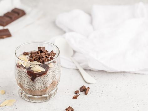 Чиа пудинг с миндалем и шоколадом (Vegan)