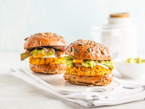 Бататно-тыквенные бургеры с гуакамоле (vegan)