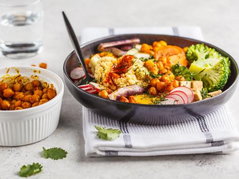 Копия Запеченные овощи, хрустящий нут и шампиньоны (vegan)
