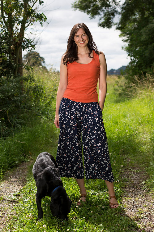 Lily & Me Evie Trousers Animal Ditsy