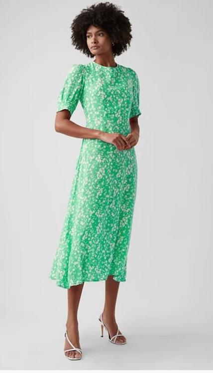GREAT PLAINS Ditsy Round Neck Dress