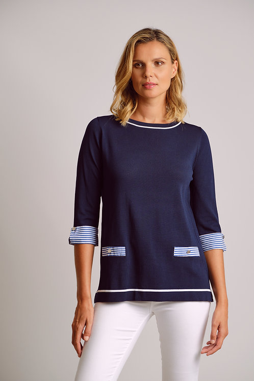 SCORZZO Navy Jumper
