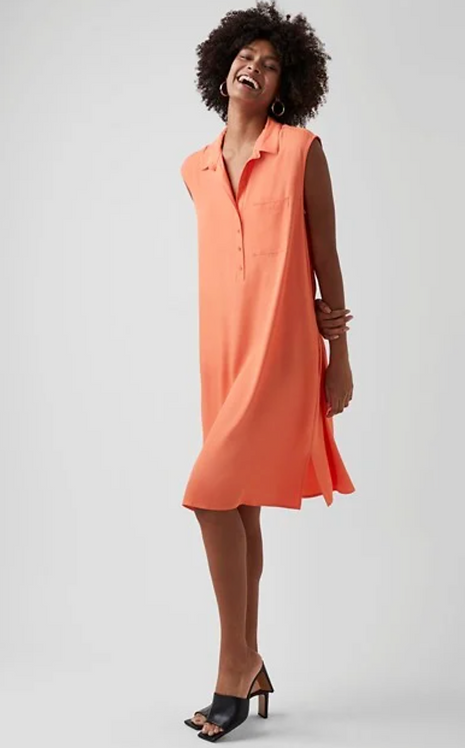 GREAT PLAINS Luxe Crepe Sleeveless Dress