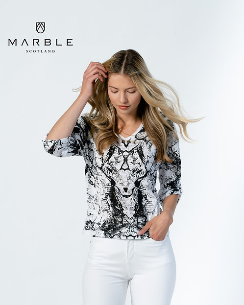 MARBLE Relaxed Cotton Mix Top