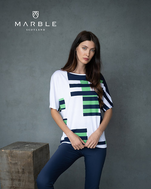 MARBLE Drop Shoulder Relaxed Top