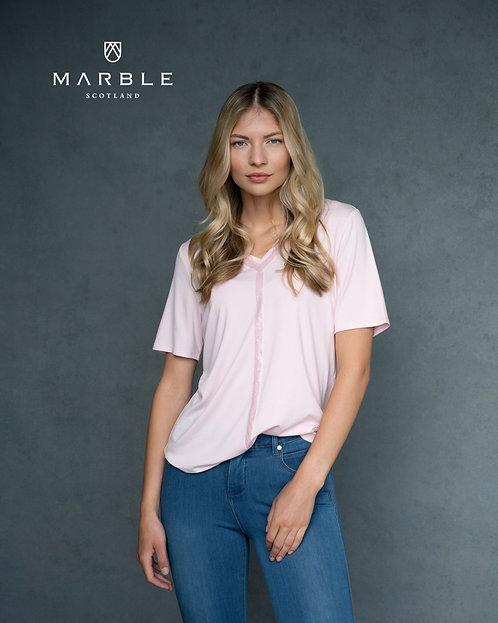 MARBLE Super Soft V Neck Top Sequin Detail