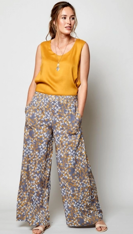 NOMADS Wide Leg Viscose Trousers