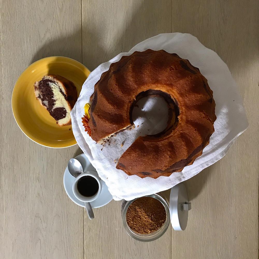 bundt cake marmorizzata torta cioccolato bicolore