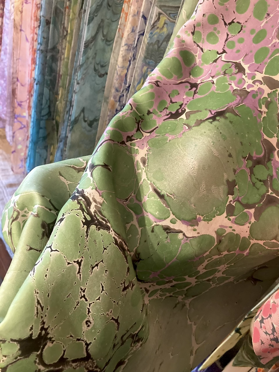 foulard  malchina trieste stampa su seta