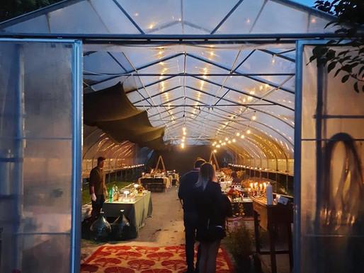 Cena nell'Orto, l'azienda che trasforma la sua serra in un fantastico locale.