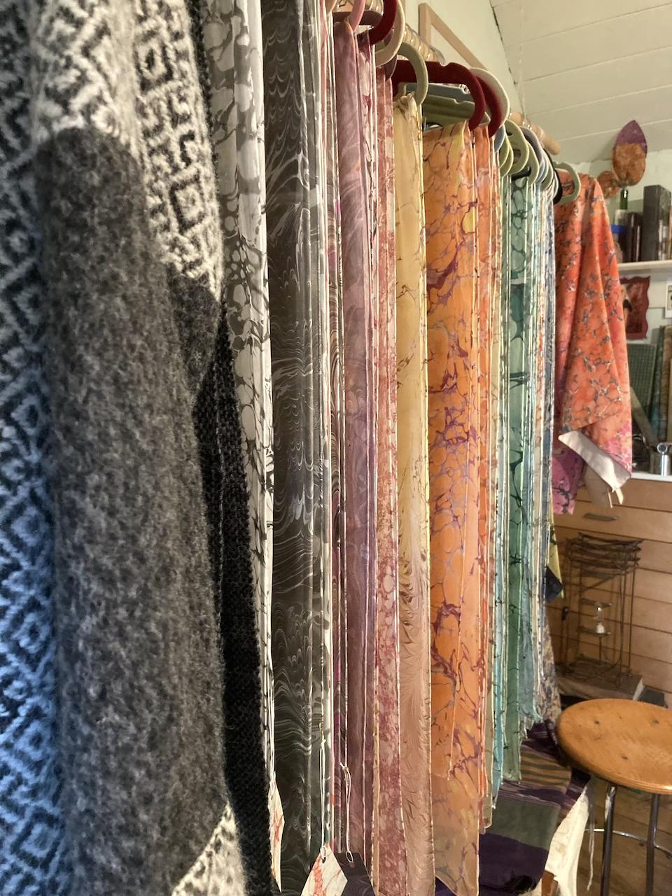 foulard in seta fatti a mano malchina trieste stampa su seta
