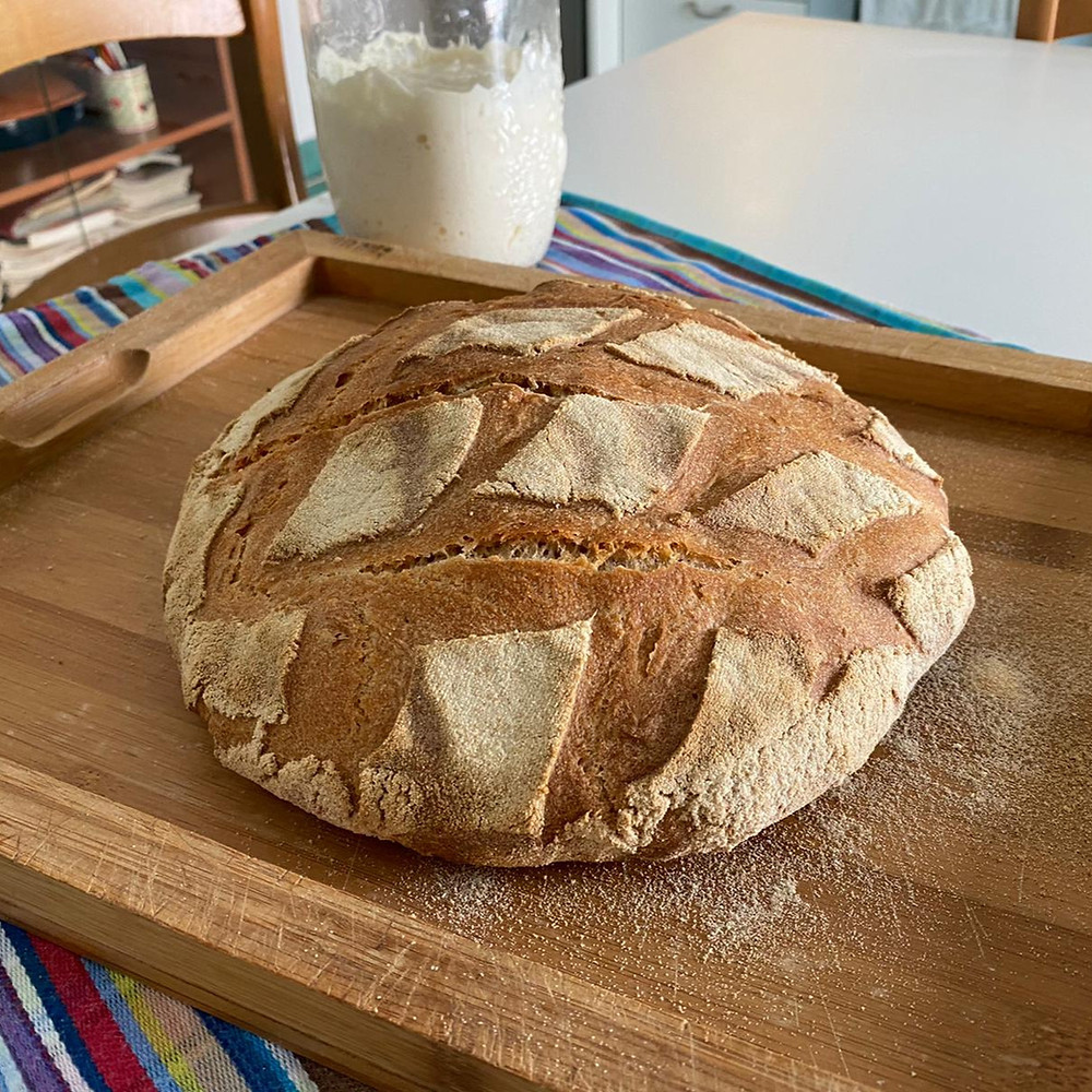 pane casereccio fatto in casa farine integrali