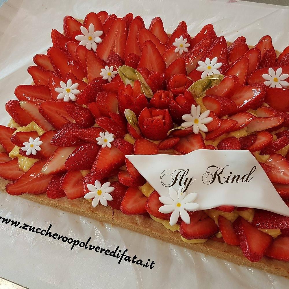 crostata senza glutine alle fragole pasticceria da Ily trieste torte felici
