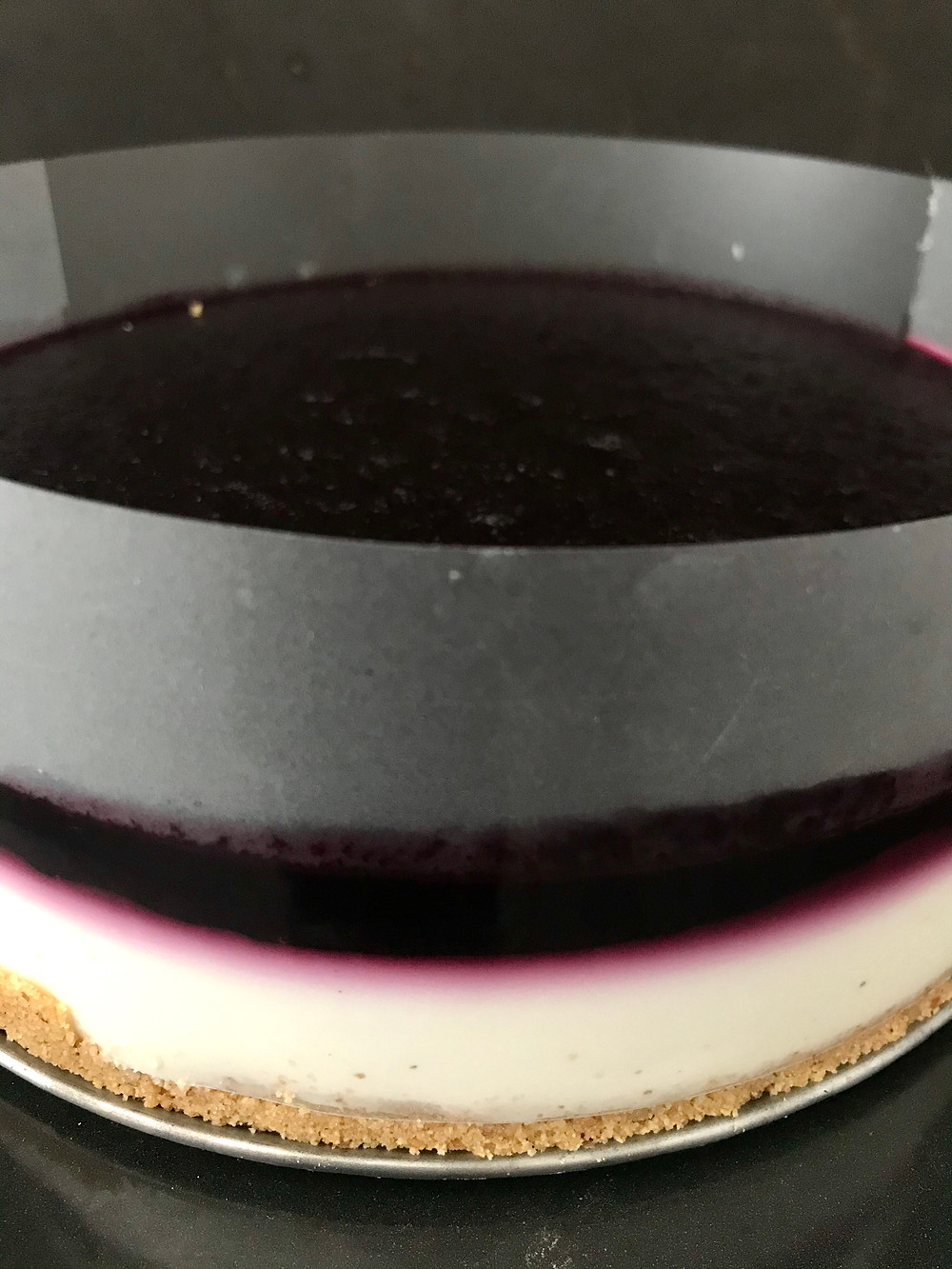 cheesecake more di gelso appena tolta dal frigo torte felici