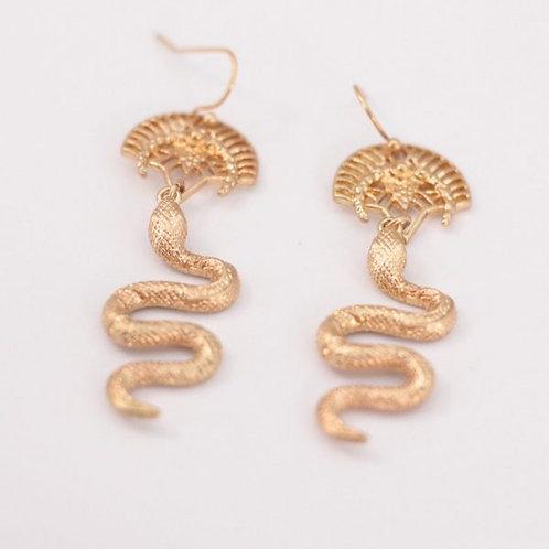 Brincos Cobra Dourado