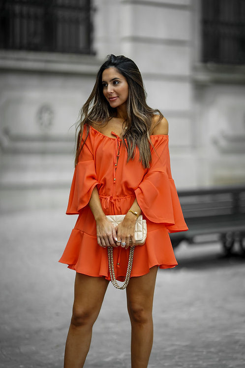 ORANGE AMARIS JUMPSUIT