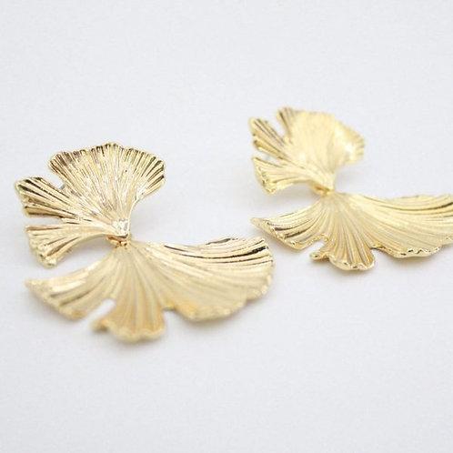 Brincos Folha dourada