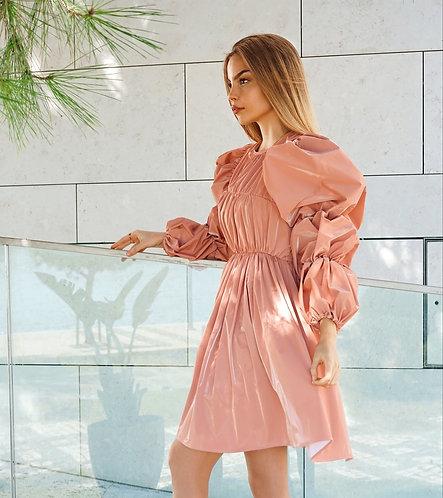 Faux leader Morgan Dress