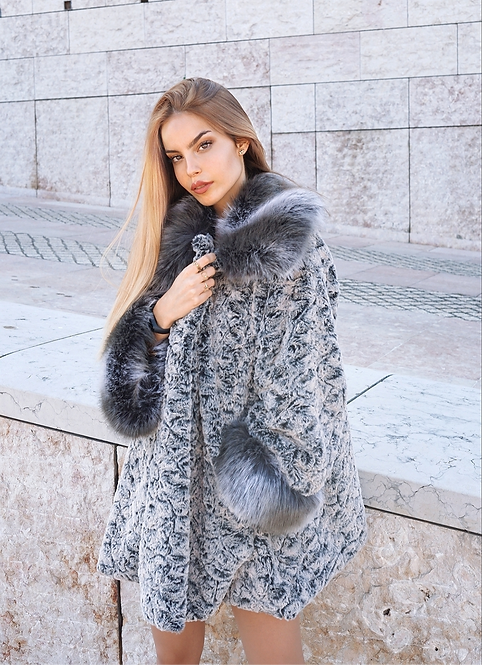 Grey Josefina Coat