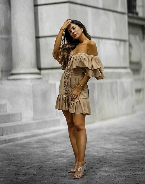 BEIGE MALLORY DRESS