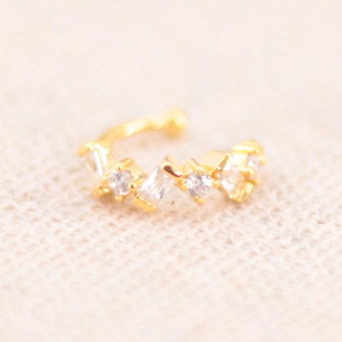 Earcuff Pedras  Dourado