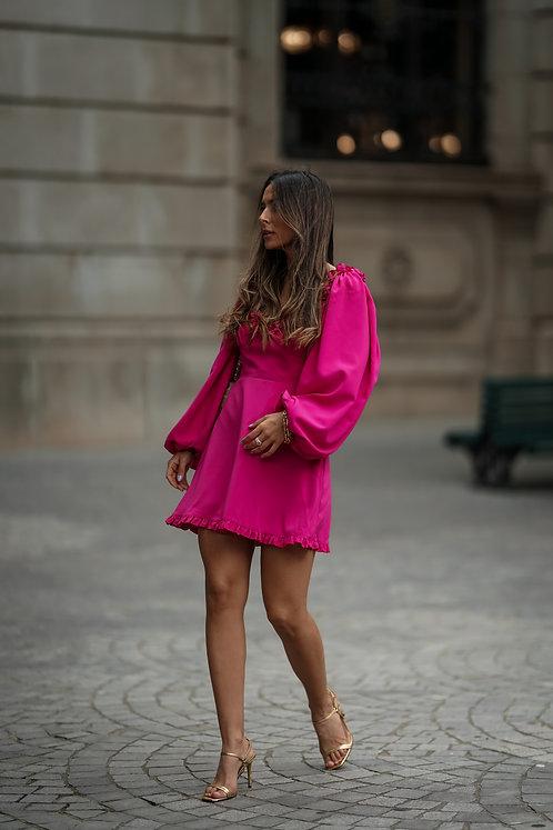 FUSCHIA ROXY DRESS