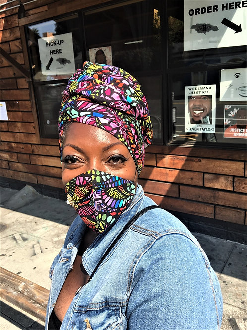 Mask and Headwraps Combo