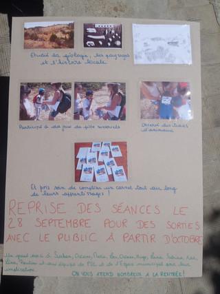 Des panneaux pour la fête de quartier de Fardeloup