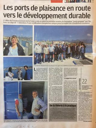 """""""Ports Propres"""" accoste en Corse"""