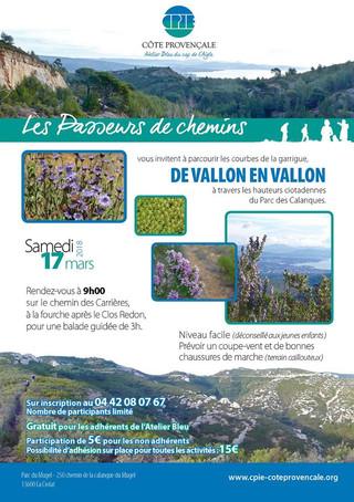 """Promenez-vous """"De vallon en vallon"""" avec les Passeurs de Chemins"""