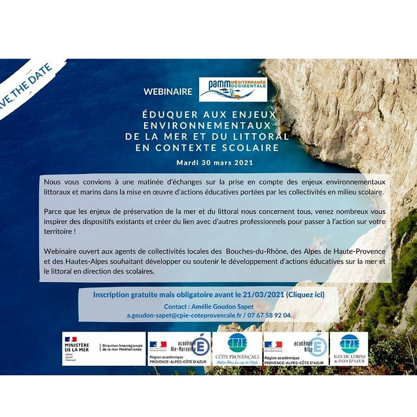 WEBINAIRE – Éduquer aux enjeux environnementaux de la mer et du littoral en contexte scolaire